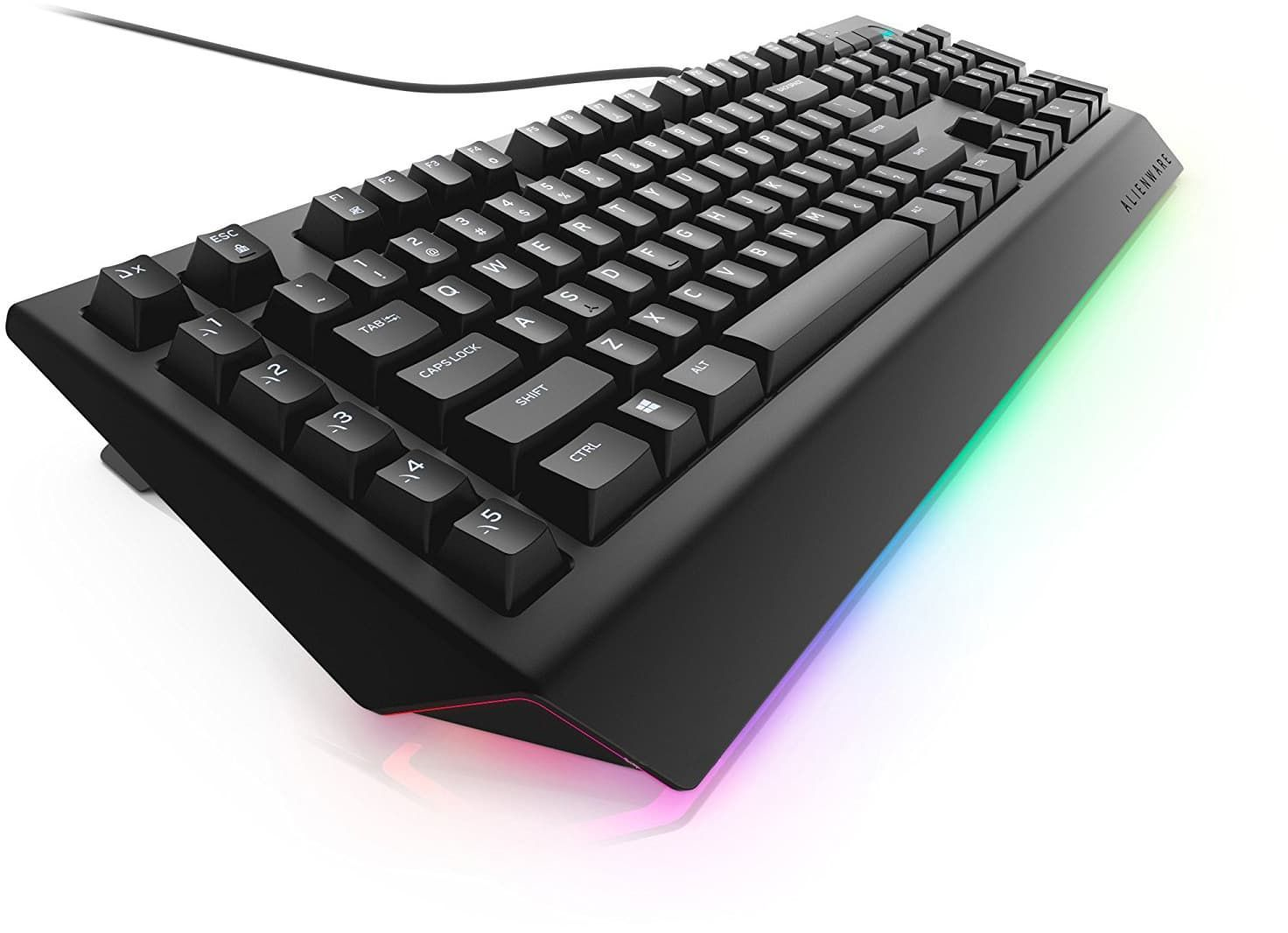 картинка Клавиатура Dell Alienware Advanced Gaming Keyboard - AW568 - Russian (QWERTY) (580-AGKY) от магазина itmag.kz