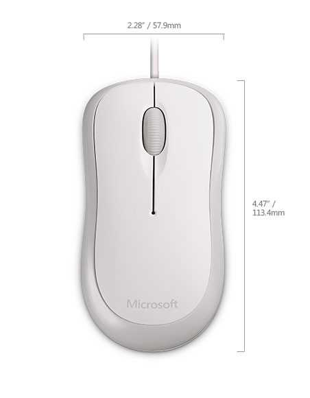картинка Компьютерная мышь   Microsoft Bsc Optcl Mouse for Bsnss PS2/USB EMEA Hdwr For Bsnss White от магазина itmag.kz