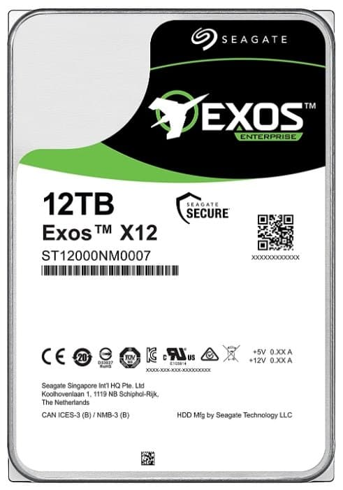 "картинка Жесткий диск HDD 12Tb Seagate Enterprise Capacity (Helium) 512E Exos X12 ST12000NM0007 3.5"" SATA 6Gb/s 256Mb 7200rpm от магазина itmag.kz"