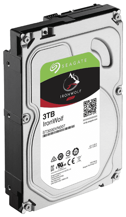 "картинка Жесткий диск HDD 3Tb Seagate IronWolf ST3000VN007 3.5"" SATA 6Gb/s 64Mb 5900rpm от магазина itmag.kz"