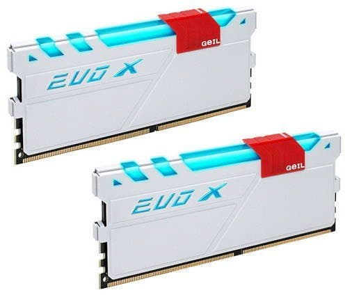 картинка Оперативная память EVO X SERIES Kit 16GB (2x8GB) GEIL DDR4 3000MHz EVO X PC4-24000 15-17-17-35 GEXG416GB3000C15ADC White от магазина itmag.kz