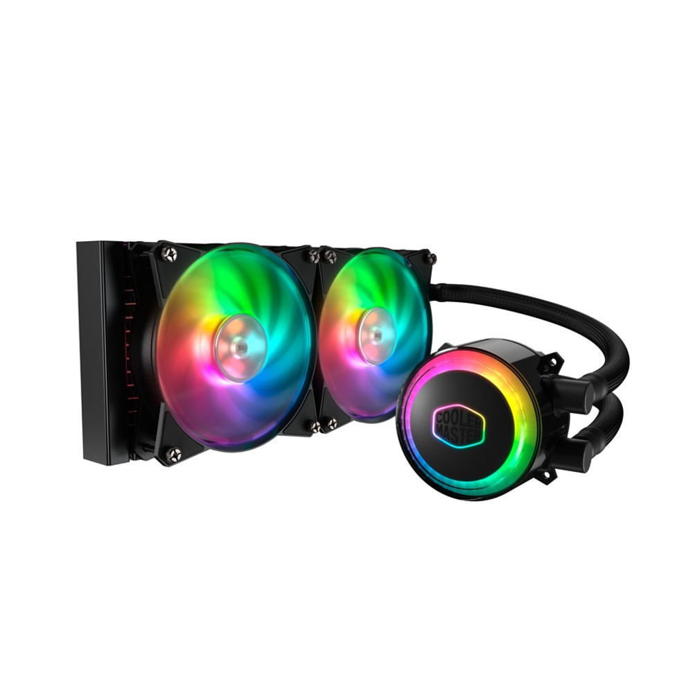 картинка Водяное охлаждение для CPU CoolerMaster MasterLiquid ML240R RGB 4-pin(PWM) 650-2000RPM 15dBA LGA1151/1150/1155/2066/2011/1366/AM4/AM3+/AM3/AM2+/AM2FM2+/FM2/FM1 MLX-D24M-A20PC-R1 от магазина itmag.kz